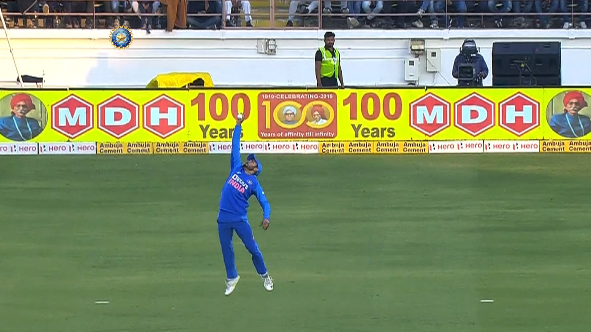 Manish Pandey takes catch