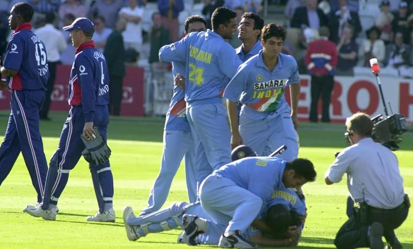 India wins Natwest series final, 2002